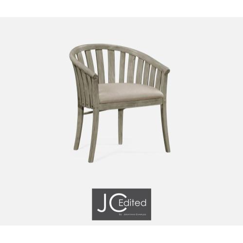 Rustic Grey Style Tub Chair