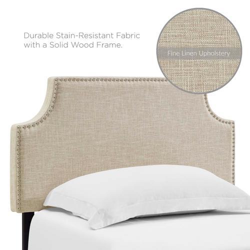 Modway - Laura Twin Upholstered Fabric Headboard in Beige