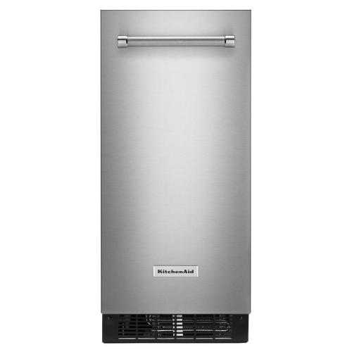 KitchenAid® 15'' Automatic Ice Maker with PrintShield™ Finish - Stainless Steel with PrintShield™ Finish