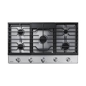 "Samsung36"" Gas Cooktop in Stainless Steel"