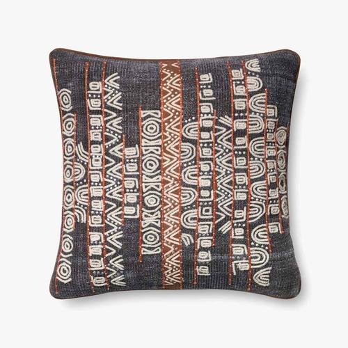 P0378 Blue / Rust Pillow