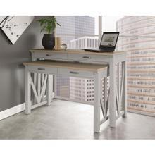 "View Product - Osborne - 30"" Nesting Desk - Timeless Oak/gray Skies Finish"