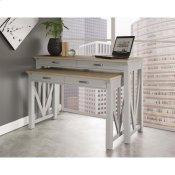 """Osborne - 30"""" Nesting Desk - Timeless Oak/gray Skies Finish"""