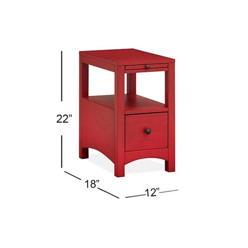 Chairside End Table - Red