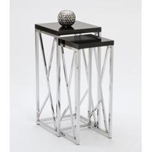 See Details - BLACK / CHROME NESTING TABLES
