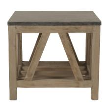 Blue Stone End Table