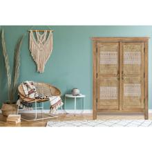 See Details - Cambridge Chandler 2-Door Standing Cabinet with Carved Accents, 31-In. W x 15.5-In. D x 44-In. H, 988012-WHT