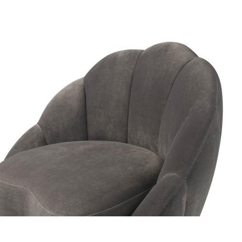 Bloom Light Grey Velvet Chair