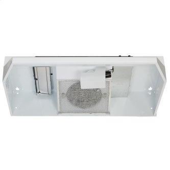 Broan™ BU3 Series 30-inch Under-Cabinet Range Hood, 260 Max Blower CFM, White w/Black Trim
