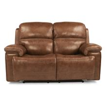 HARKNESS EXCLUSIVE! Leather Power Reclining Loveseat with Power Headrest