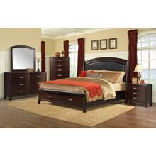 Delaney Bedroom - King Storage Bed, Dresser, Mirror, Chest, and Night Stand