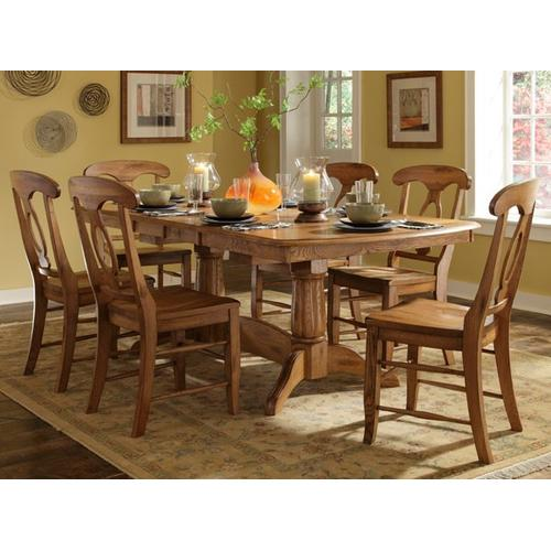See Details - Trestle Table W/ Double Butterfly Leaf