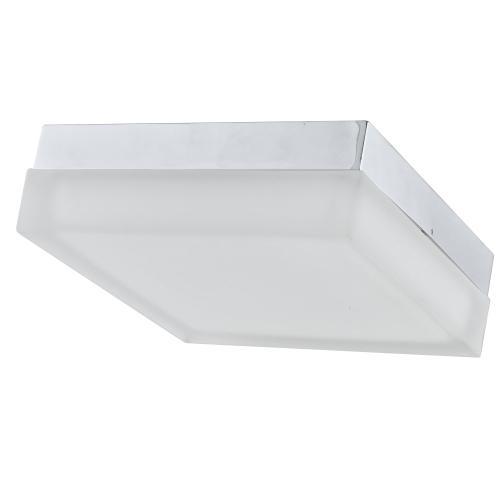 "11"" Square Ceiling Flush, 20w, Satin Nickel"