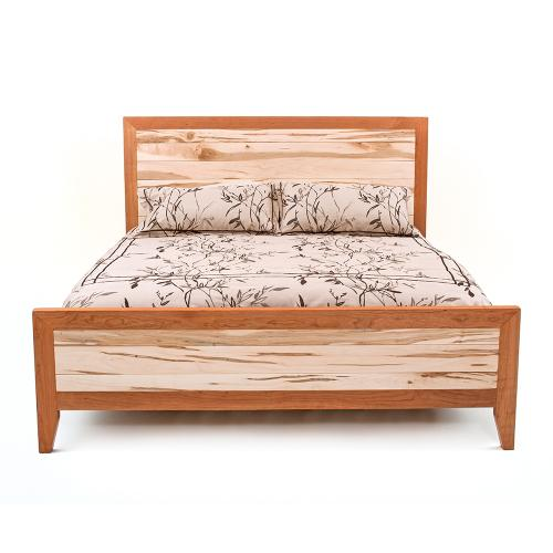 Denver Bed - Maple & Cherry Mix - Queen Headboard Only