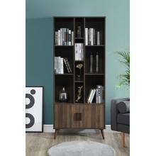 "See Details - 2013 DARK WALNUT Faux Wood Book Shelves - 75"" H"