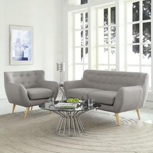 Remark 2 Piece Living Room Set in Light Gray