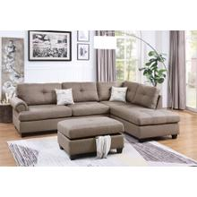 Nika 3pc Sectional Sofa Set, Mocha