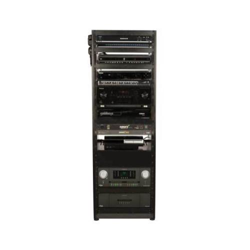 Sanus - 15U AV Rack Stackable Open Frame Network Rack