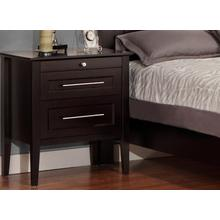 Stockholm 2 Drawer Night Stand With Pullout Shelf