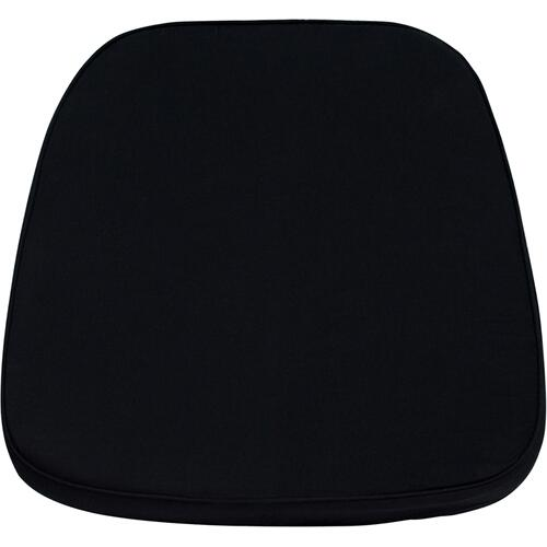Flash Furniture - Soft Black Fabric Chiavari Chair Cushion