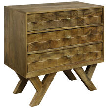 See Details - 3 DRAWER CHEST MADE OF SOLID MANGO WOOD IN HONEY STAIN FINISH