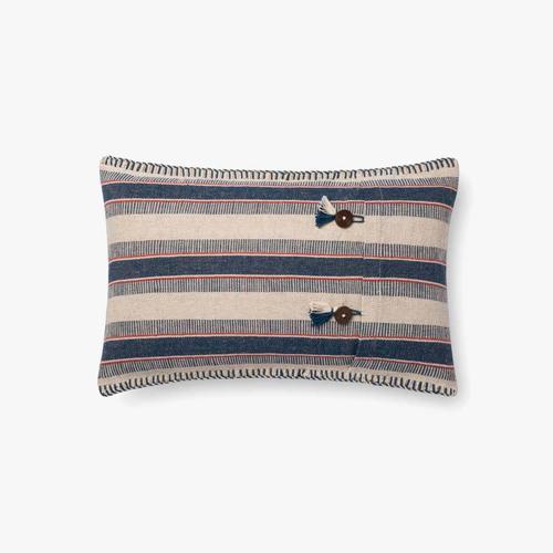P0713 Indigo / Natural Pillow