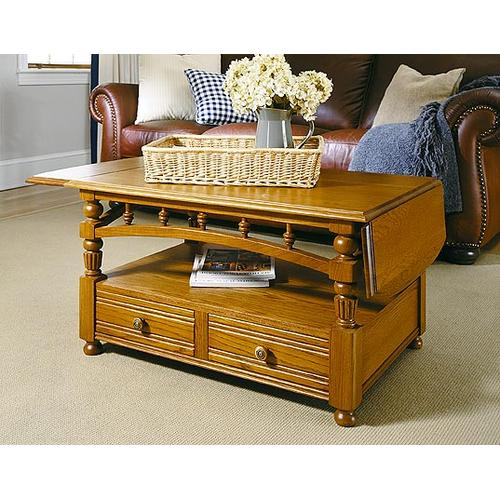 Factory Closeouts - Cocktail Table with Drop-Leaf