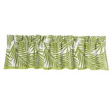 Capri Fern Green U0026 White Kitchen Valance