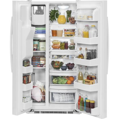 GE 23.2 Cu. Ft. Side-By-Side Refrigerator White - GSS23GGKWW