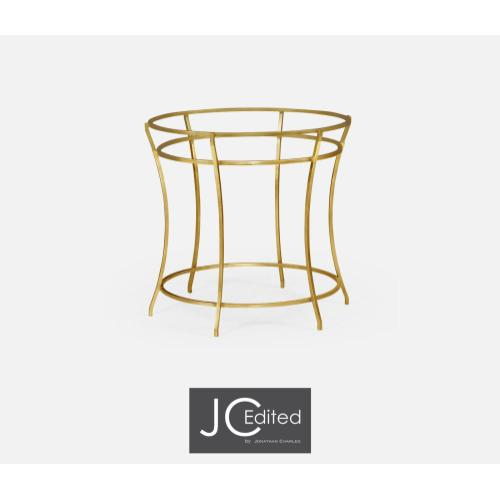 Gilded iron base of round dining table 491112-60D-G