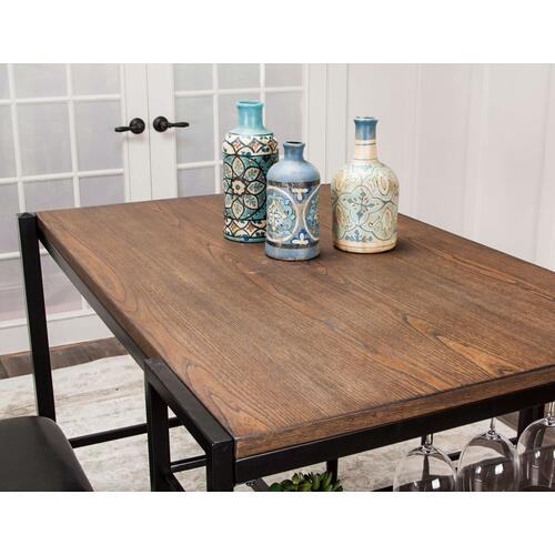 Counter Height Pub Table Set - Rustic Elm (3 Piece)
