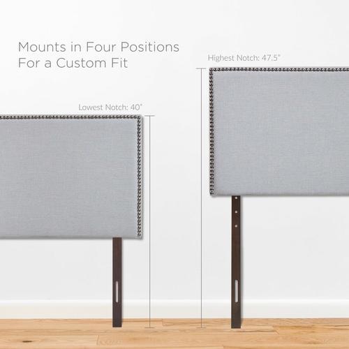 Modway - Region Nailhead Twin Upholstered Headboard in Sky Gray