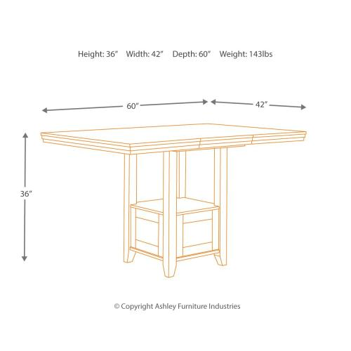 Ralene Counter Height Dining Room Extension Table