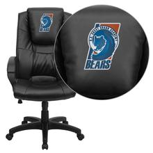 United States Coast Guard Academy Athletics Bears Embroidered Black Leather Executive Office Chair