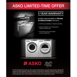 Asko Style Vented Dryer - White