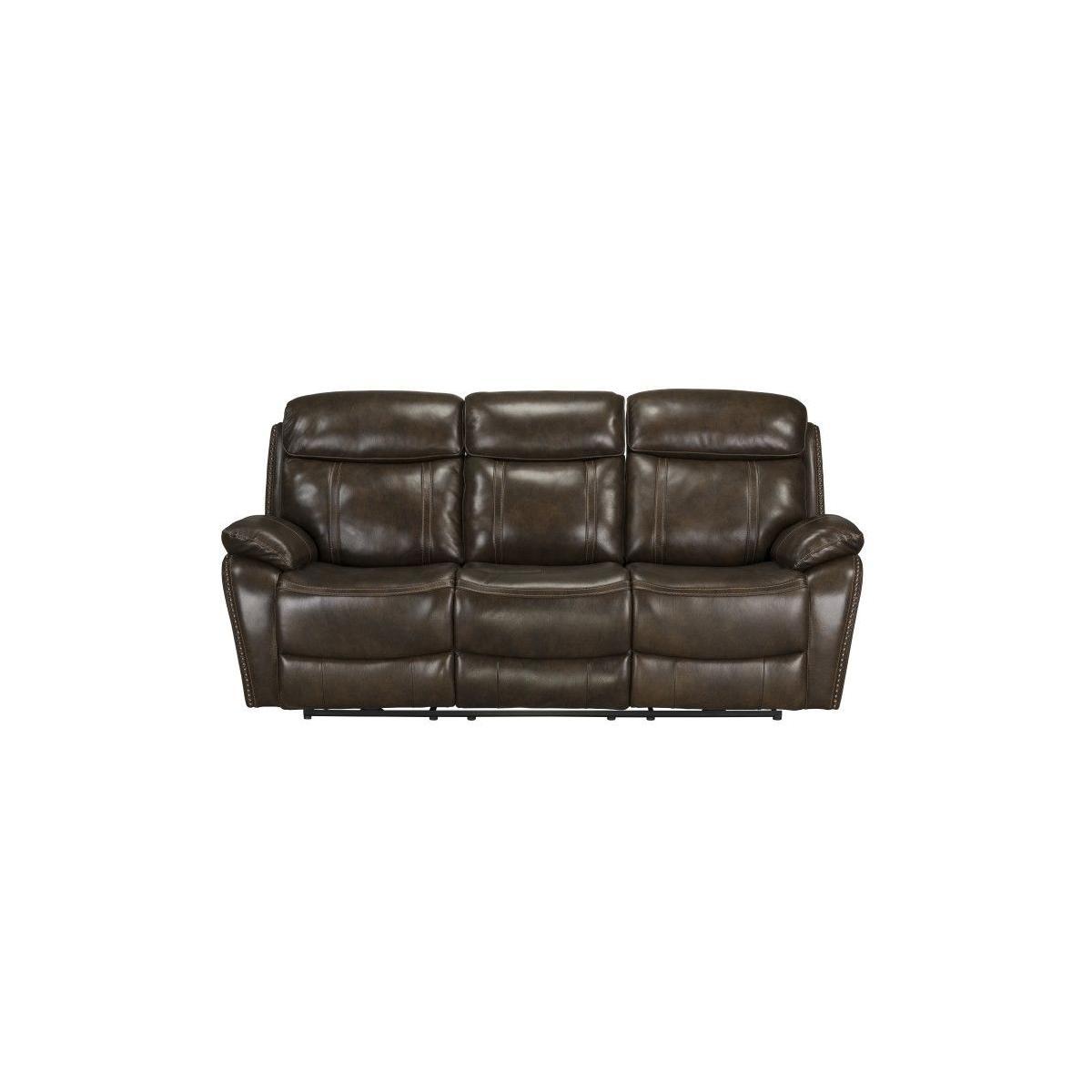 Edmond Power Motion Reclining Sofa, Brown