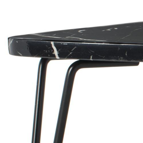 Safavieh - Jacky Triangle Coffee Table - Black Marble / Black