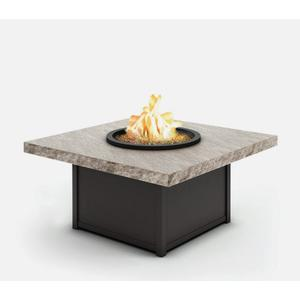 """42"""" Square Coffee Fire Pit Ht: 19"""" Aurora Aluminum Base (Indicate Top & Frame Color)"""