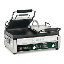 Double Italian-Style Flat Grill with Timer - 240V
