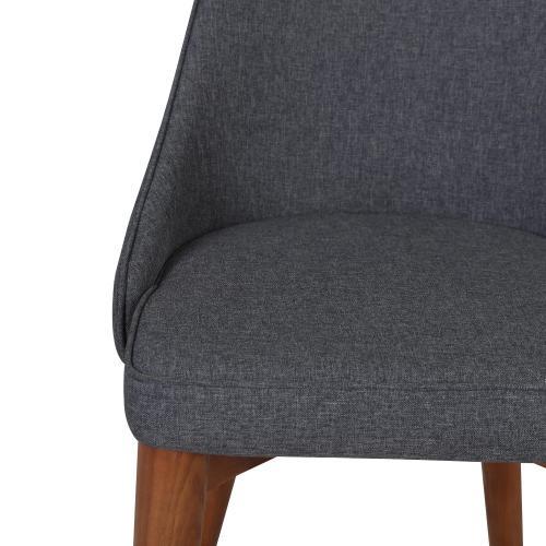 Erin KD Fabric Counter Stool Walnut Legs, Night Shade