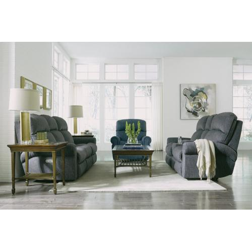 Product Image - Langston Fabric Reclining Loveseat with Console