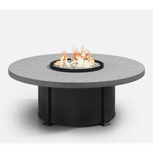 """54"""" Round Coffee Fire Table Ht: 19"""" Valero Aluminum Base (Indicate Top, Frame, & Side Panel Color)"""