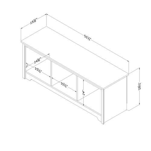 Vito - Cubby Storage Bench, Pure White