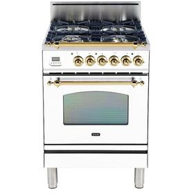 "24"" Inch White Natural Gas Freestanding Range"