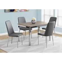 "DINING TABLE - 32""X 48"" / DARK TAUPE / CHROME METAL"