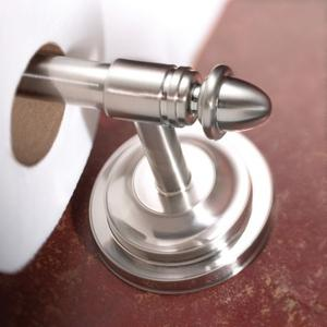 Stockton brushed nickel pivoting paper holder