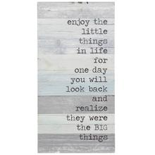 See Details - The Little Things in Life  12in X 24in X 2in  Traditional Print on Wood Panel Wall Art