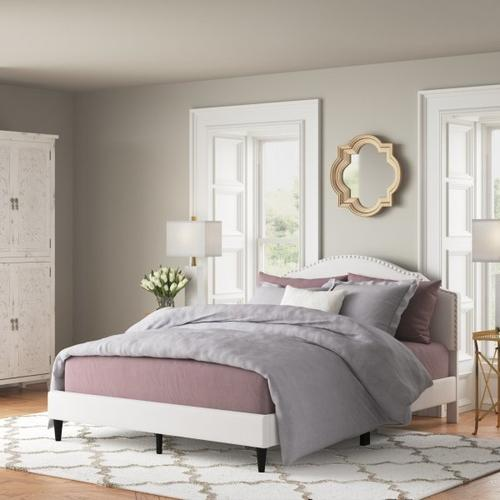 Accentrics Home - Cavendish Upholstered Queen Bed in Warm Gray