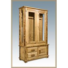 Glacier Country Log Gun Cabinet