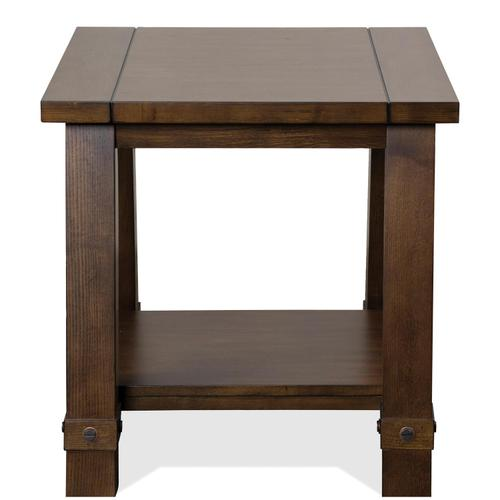 Windridge - Angled Leg Side Table - Sagamore Burnished Ash Finish